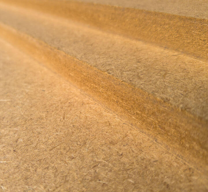an image showing the fuzzy edges of MDF