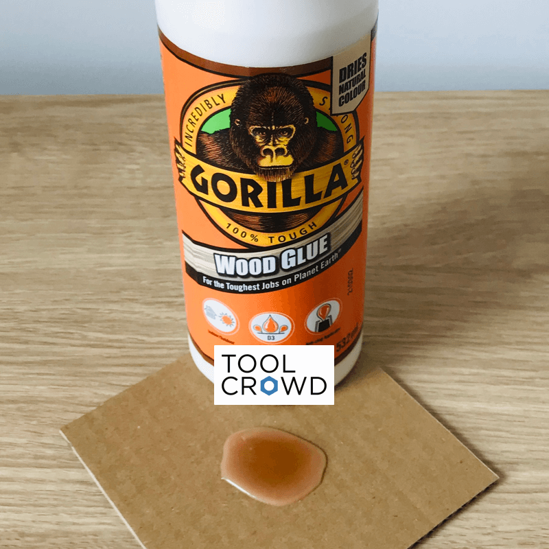 an image of gorilla wood glue that we tested to see if it dries clear