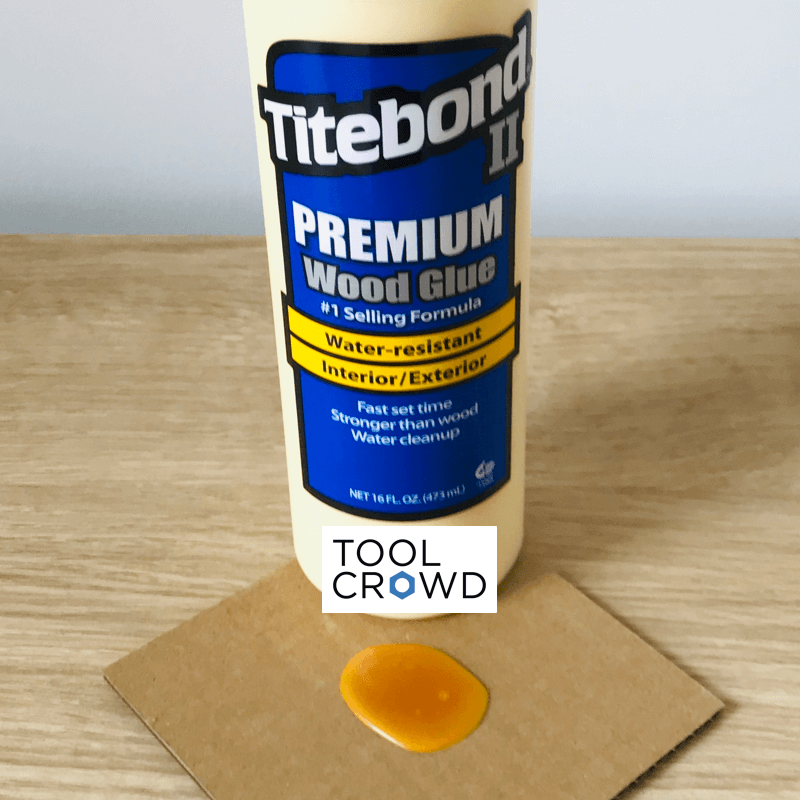 an image of titebond 2 wood glue that we tested to see if it dries clear