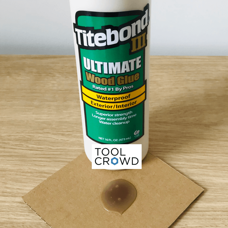 an image of titebond 3 wood glue that we tested to see if it dries clear