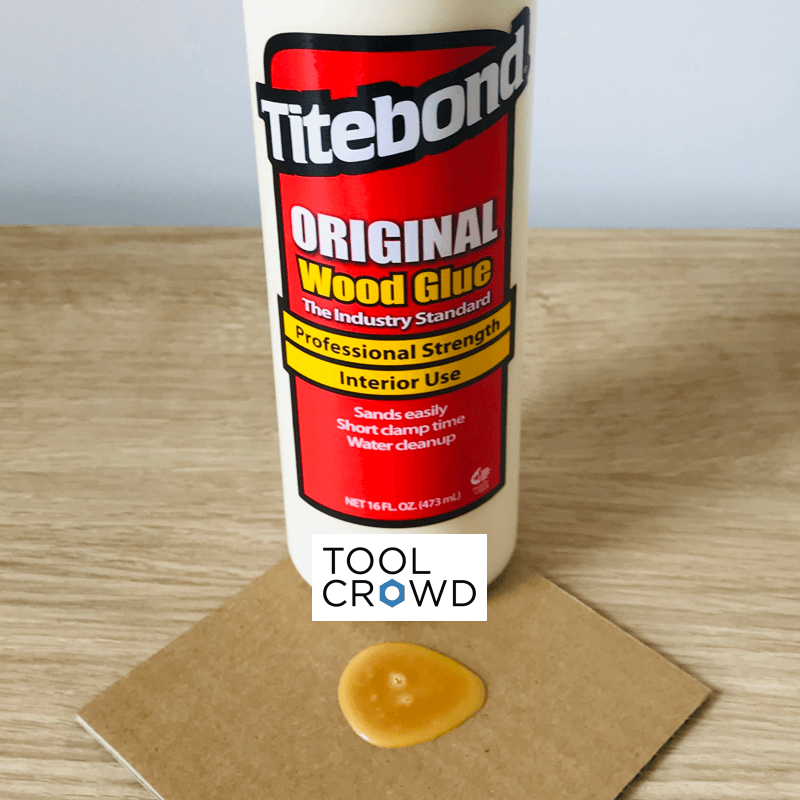 an image of titebond original wood glue that we tested to see if it dries clear