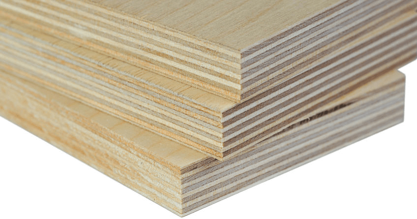 an image showing the various plies or layers in plywood