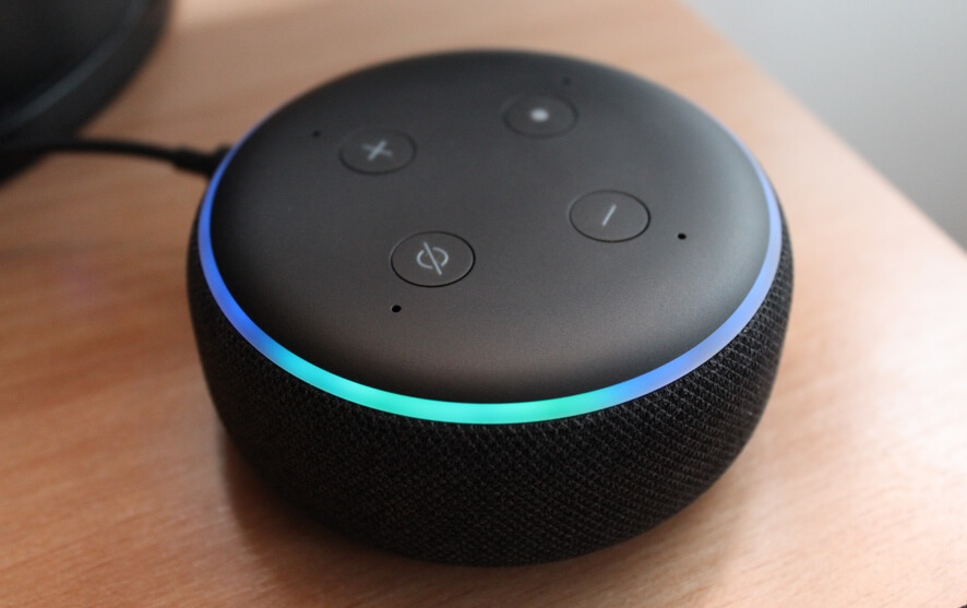 should you leave alexa on all the time article image - an image showing the buttons on a standard amazon echo device
