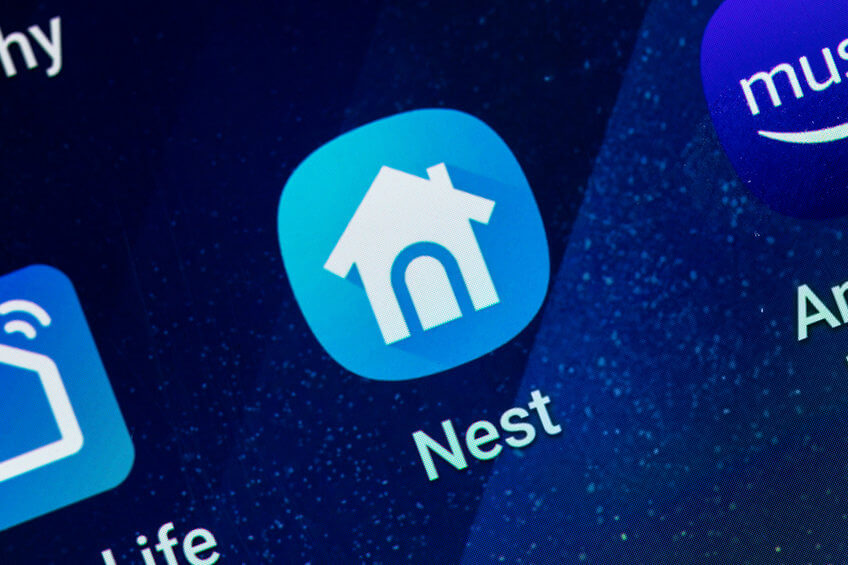 an image showing the nest app icon on a smartphone screen