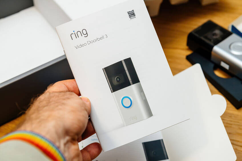 can you use a ring doorbell without wifi article image - an image showing the manual of a ring doorbell device