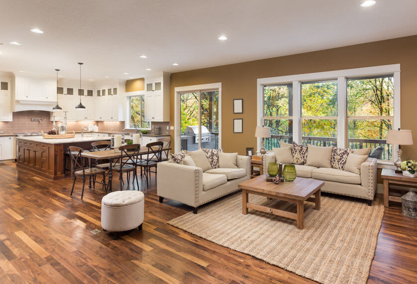 why is hardwood flooring so popular article image - an image showing a stylish hardwood floor installed in a home