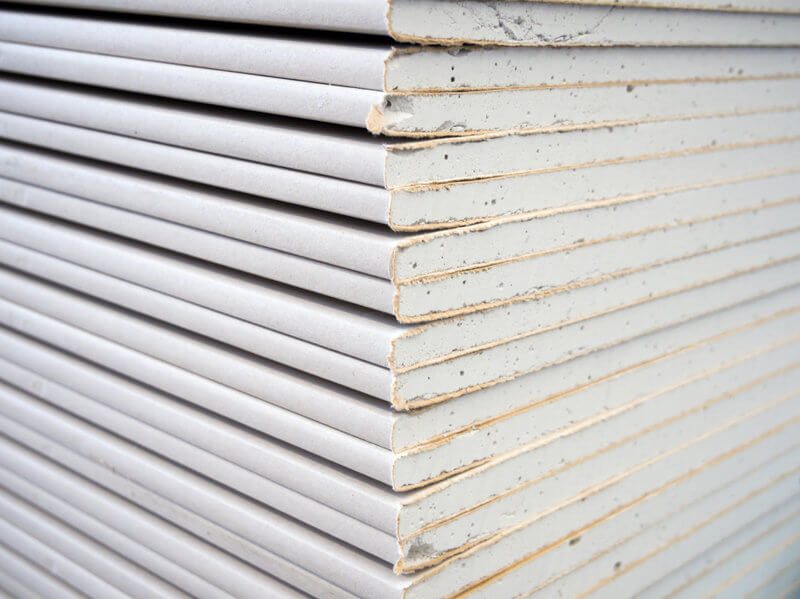 can you use plywood instead of drywall article image - image showing drywall sheets